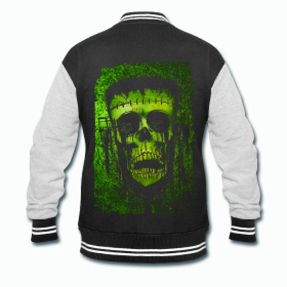 Frankenstein monster varsity jacket