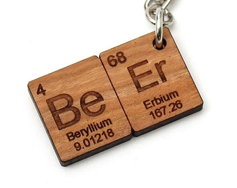Science key chain etsy beer periodic table keychain key fob nice gift for the home brewer and beer urtaz Gallery