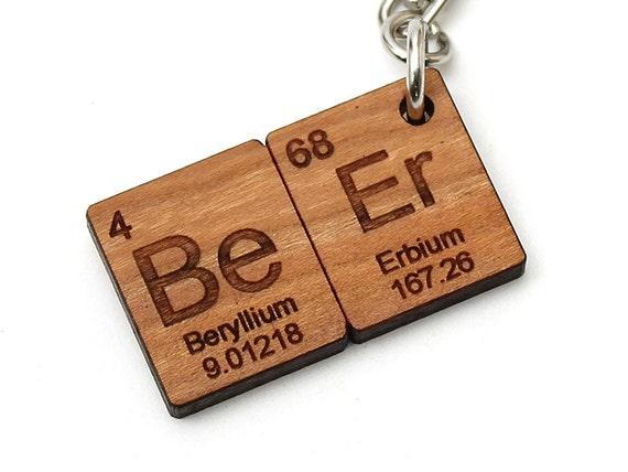Beer periodic table keychain fob wood geekery science key chain beer periodic table keychain fob wood geekery science key chain nerdy cool chemistry urtaz Gallery