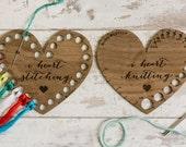 I Heart Knitting + Stitching - Knitting Gauge & Thread Organizer Set