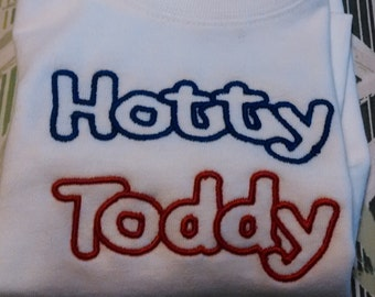 Embroidered Hotty Toddy White T-Shirt