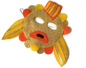 Goldfish Mask, Fish Mask, Dress Up, Sea Animal Birthday Party Favor, Farm Animal, Zoo Animal, Children's Halloween Costume, Adult Mask