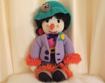 Handmade Knitted Scarecrow Wizard of Oz Doll Plush Soft Toy
