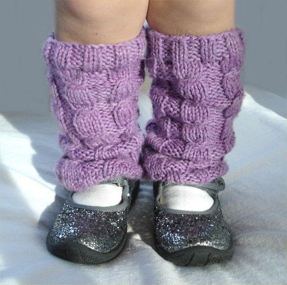 Knitting PATTERN- Cabled Leg Warmers PDF