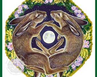 Dance of the March Hares Print