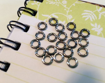 6mm OD soldered (closed) jumprings 18ga, Gunmetal,  20pk  NICKEL FREE