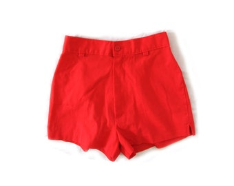 vintage shorts girls 80s childrens red high waisted 1980s clothing red size 5