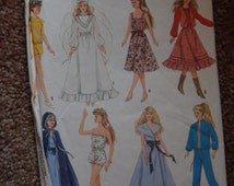 Simplicity Pattern - #8333 Barbie Doll Dresses Outfits 8 Styles to Choose from