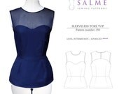 PDF Sewing pattern - Sleeveless yoke top