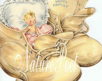 Baby Boots Downloadable, Printable Digital Art Image