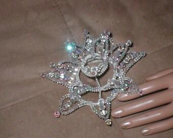 Vintage 1950's Crystal Crown Bridal Headpiece