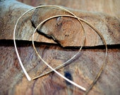 Raindrop Hoop Earrings - Gold and Rose Gold