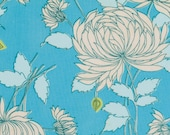 Amy Butler Fabric, Belle Collection, Chrysanthemum in Blue, 1 Yard