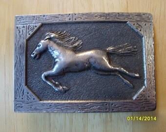 Buckle Wild Horses, Cowboy Buckle by  Matusik & Sons, Western Buckle, Wild Horse Belt Buckle, Silver Horse Buckle, Western Buckle