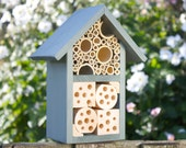 Two Tier Insect and Bee Hotel, Wild Thyme. Can be personalised.