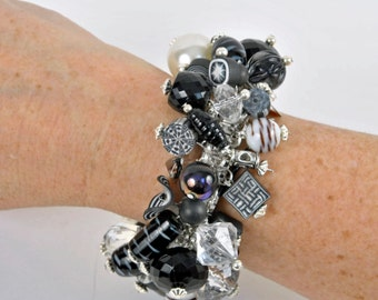 Black and White Cha Cha Bracelet