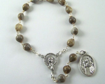 Saint Christopher Job's Tears Chaplet (20)