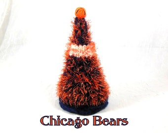 Chicago Bears Colors Small Christmas Tree for Desk, Office, Home Decor