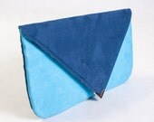Navy Blue envelope clutch | Extra Large |  Clutch purse in Color of Your Choice
