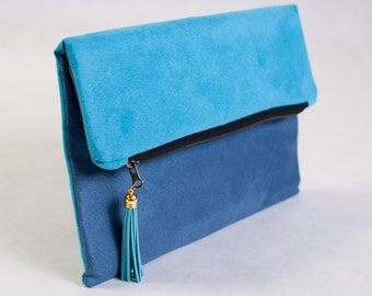 Fold over clutch in Color of Your Choice