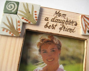 """Rustic Wedding Frame for Mother of the Bride -Personalized Gift for Mom 7"""" x 5"""""""