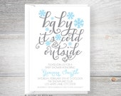 Baby it's Cold Outside /// Winter Snowflake /// Baby Shower Invitations - designsbynicolina