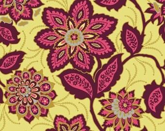 Joel Dewberry Heirloom- JD53 Ornate Floral Garnet