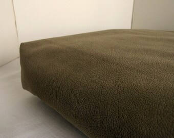 Dog Bed Cover  Soft Dark Tan Textured Upholstery 20 x 28