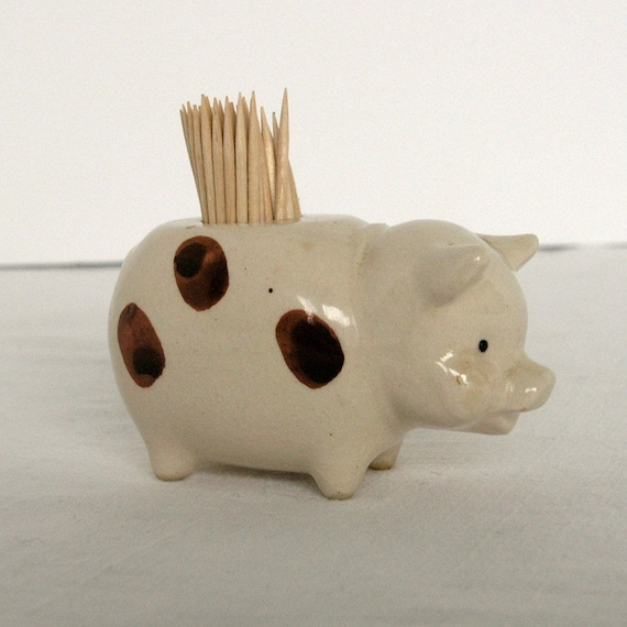 Vintage pig toothpick holder japan by artnarfs on etsy - Toothpick holder for purse ...