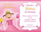 Pinkalicious Birthday Party Invitation -  DIY Digital, Printable Party INVITATION - 4x6 or 5x7 - Fairy Princess, Ballerina Princess