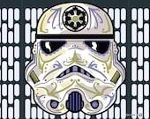 Stormtrooper Sugar Skull Print 11x14 print