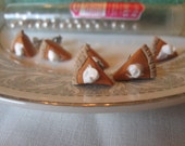 Old Fashioned Pumpkin Pie. polymer clay handsculpted surgical steel post earrings.