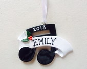 Personalized Christmas Ornaments-Musical Note - Piano, Clarinet Band, Drums, Flute- Music Teacher- Personalized with the name and the year