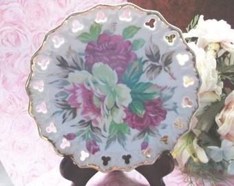 Norcrest Pierced Porcelain Plate