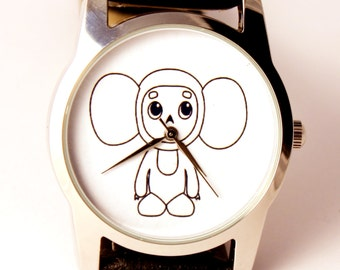 Cheburashka watch, unisex watch, women watch, men wrist watch