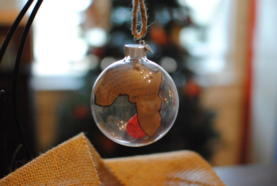 Adoption Glass Ornament You choose the verse or message and place