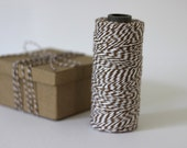 Brown & White Bakers Twine - 10 metres - Perfect for gift wrapping and crafts