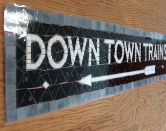 NYC Subway Mosaic Glass Install - Downtown Trains