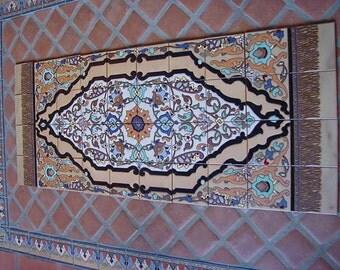 Decorative Tile Carpet Mural ~ In the Malibu Tile Tradition