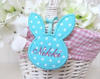 Personalized Bunny Easter Basket Tag