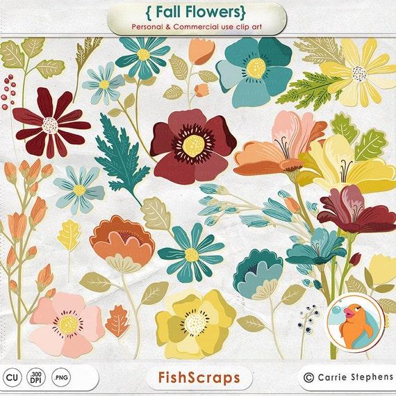 Colorful fall flowers clipart create flower arrangements