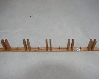 Oak ski rack made for wide skiis
