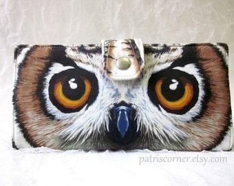 Handmade women wallet clutch Owl eyes beauty - beautiful eyes - Big eyes - custom order - ooak fabric - purse - wallets for women