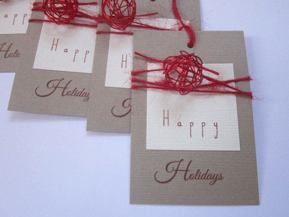 Handmade Christmas Tags - Elegant Gift Tags - Christmas Gift Tags - Christmas Gift Wrap - Bell Tags - Rustic Tags