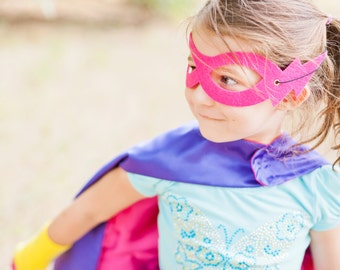 SUPERHERO MASK - Ready to SHIP - Super hero party favors - Childrens Super Hero Mask - choose from 9 colors - Stocking Stuffer