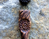 Star Traveler Spike Pendant - Handmade Ceramic Pendant