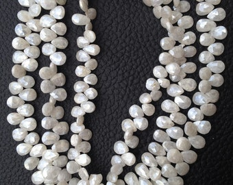 Brand New, 1/2 Strand, Mystic PEARL SILVERITE Faceted Pear Shape Briolettes,7-8mm Amazing Item at Low Price