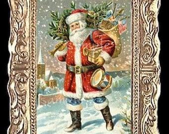 Christmas Santa Miniature Dollhouse Art Picture 6247