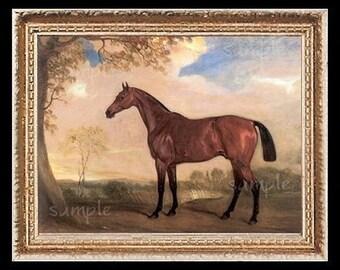 Landscape Horse Miniature Dollhouse Art Picture 1424