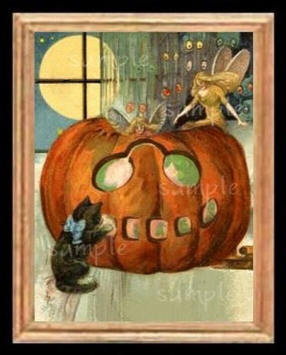 Halloween Faries Miniature Dollhouse Art Picture 6199